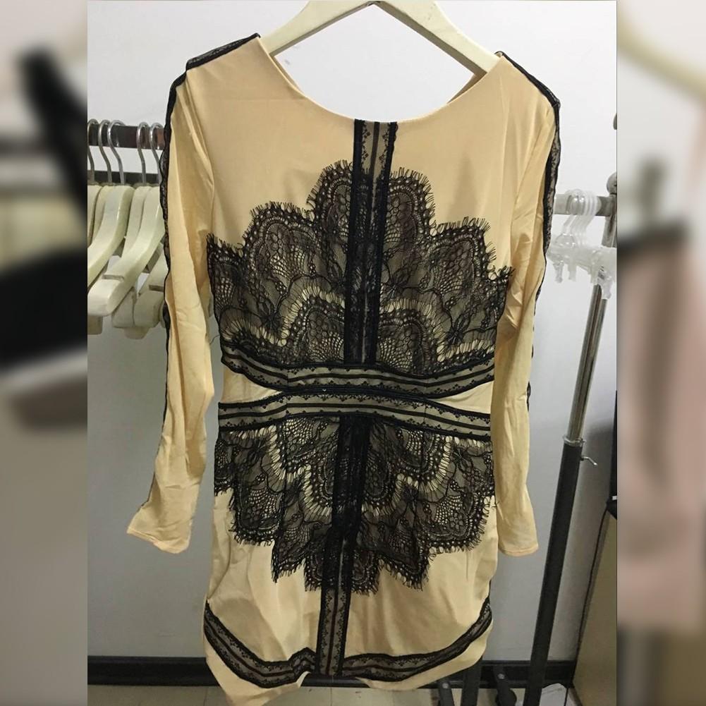 Black Coffee Lace Dress Sep205M