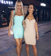 Nude Strapy Sleeveless Mini Back Knitted Strapy Cheap Bandage Dress PPHJ0369-Nude