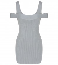 Rayon - Light Green Round Neck Cap Sleeve Mini Without Zip Stripped Comfortable Bandage Dress SW040-Light-Green