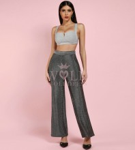 Siliver Strapy Sleeveless 2 Piece Sexy Fashion Bodycon Jumpsuits HI976-Silver