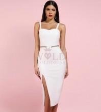 White Strapy Sleeveless Mini Fashion Bandage Dress PP1114-White