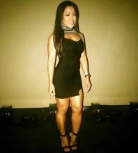 Rayon - Black High Neck Sleeveless Mini Beads Cut Out Bandage Dress H0125-Black