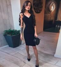 Rayon - Black Strapy Sleeveless Mini Backless Bandage Dress H0215-Black