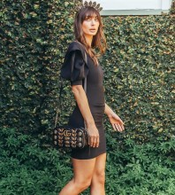 Black Plain Mini Short Sleeve V Neck Bodycon Dress HB6250-Black