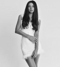 White Wool Mini Sleeveless Strappy Bandage Dress HB7125-White