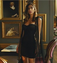 Black Frill Wrinkled Mini Sleeveless Strappy Bandage Dress HB7225-Black
