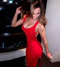 Strappy Red Sleeveless Over Knee Backless Slit Bandage Dress HB7233-Red