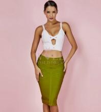 White Strapy Sleeveless Mini Cutout Fashion Bandage Dress HK058-White