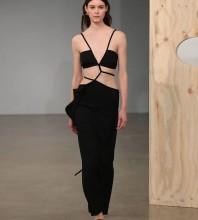 Black Tie Cut Out Maxi Sleeveless Strappy Bandage Dress HL8426-Black