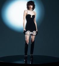 Black Cut Out Rhinestone Mini Sleeveless Strappy Bandage Dress HL8465-Black