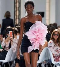Black Floral Mini Sleeveless Strapless Bodycon Dress HT2195-Black