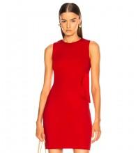 Red Tassels Mini Sleeveless Round Neck Bandage Dress HT2203-Red