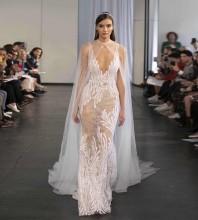 White Mesh Embroidered Maxi Sleeveless Strappy Bodycon Dress HT2388-White