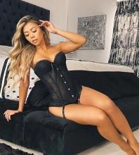 Black Striped Lace Sleeveless Strapless Bandage Set HT2475-Black