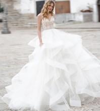 White Striped Flouncy Maxi Sleeveless Strappy Bodycon Dress HT2608-White