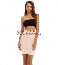 Pink Mini Lace Fashion Bandage Skirt HT0092-Pink
