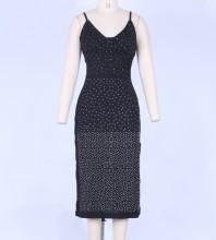 Black Bodycon Dress Mars-117