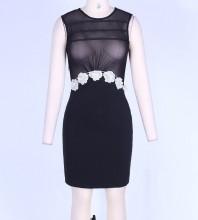 Black Bodycon Dress Mars-261