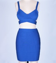 Blue Bandage Dress Octs-35