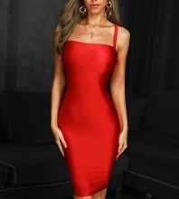 Red Backless Mini Sleeveless Strappy Bandage Dress PF19179-Red