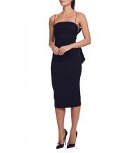 Strappy Black Sleeveless Over Knee Bowknot Distinctive Bandage Dress PF19321-Black