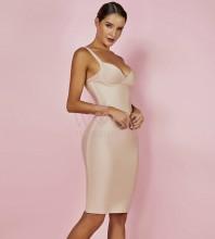 Nude Strappy Sleeveless Mini Fashion Bandage Dress PP0603-Nude