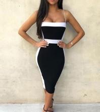 Black Strapy Sleeveless Mini Lace Fashion Bandage Dress PP1001-Black