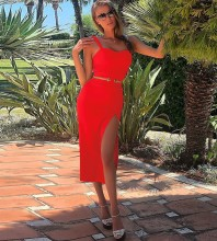 Red Strappy Sleeveless Mini Fashion Bandage Dress PP1114-Red
