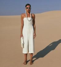 White Backless Slit Midi Sleeveless Strapless Bandage Dress PP21123-White