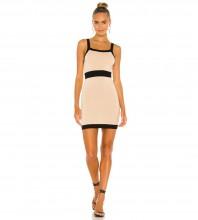 Light Khaki Plain Striped Mini Sleeveless Strappy Bandage Dress PZL2879-Light-Khaki