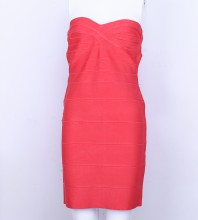 Red Wrapped Chest Dress Sep33L