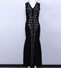 Black Sequins Dress Sep84S