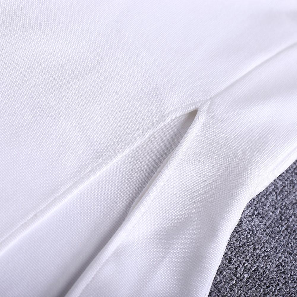 White V Neck Sleeveless Maxi Lace Decorated Side Slit Sexy Bandage Dress HQ246-White