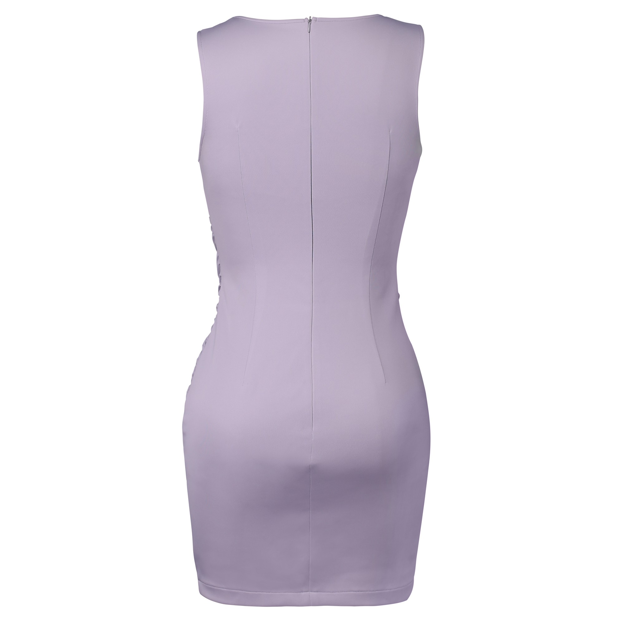 Gray V Neck Sleeveless Mini Stagger Knot Party Bodycon Dress HD510-Gray