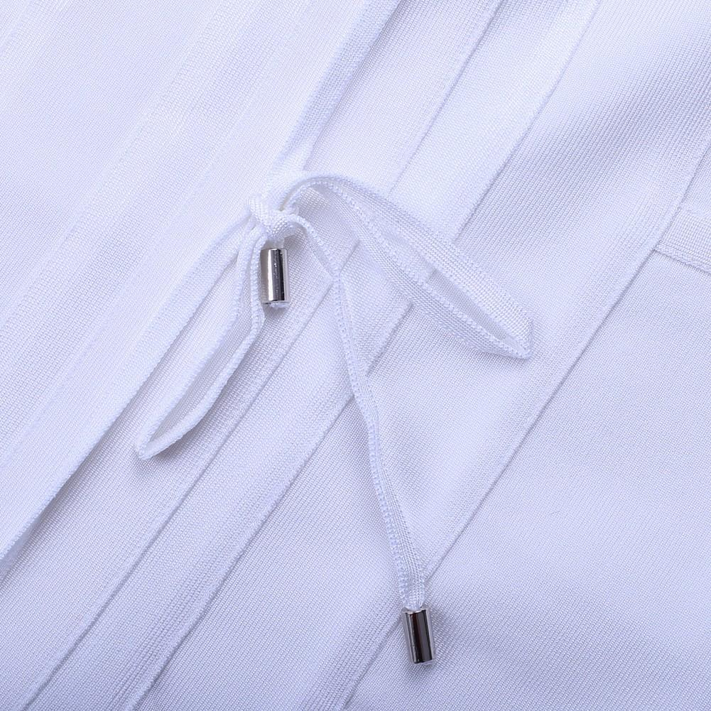 Rayon - White Strapy Sleeveless One Piece Bandage Tie Fashion Bandage Dress HJ448-White