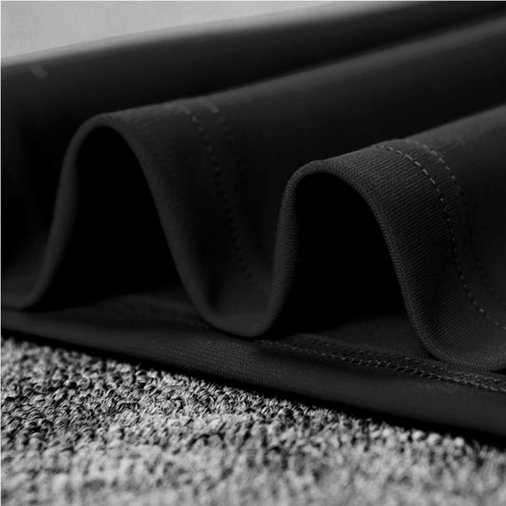 Rayon - Black V Neck Sleeveless Over Knee Cutout Waistband Fashion Bandage Dress HJ502-Black