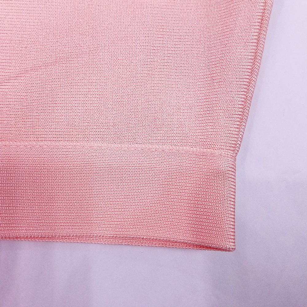 Pink Halter Sleeveless Mini Cross Bandage Party Bandage Top HK007-Pink