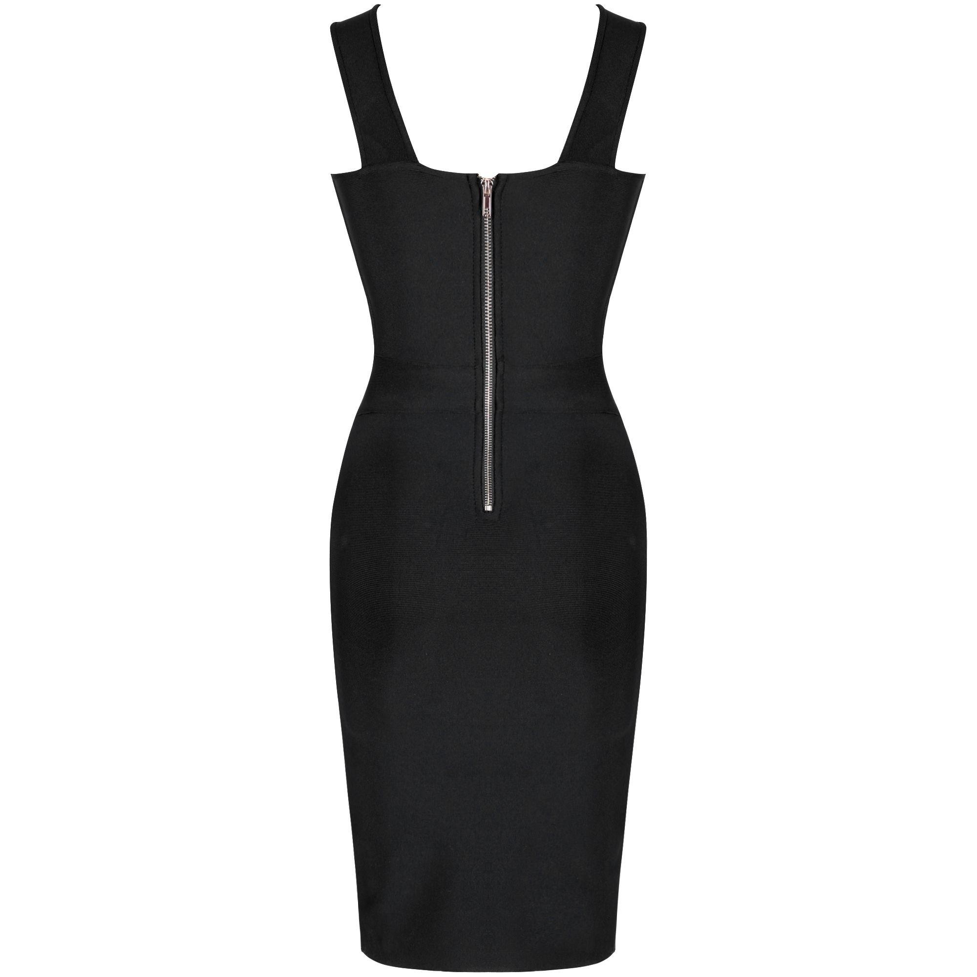 Black Cutout Mini Sleeveless Halter Bandage Dress PP19188-Black