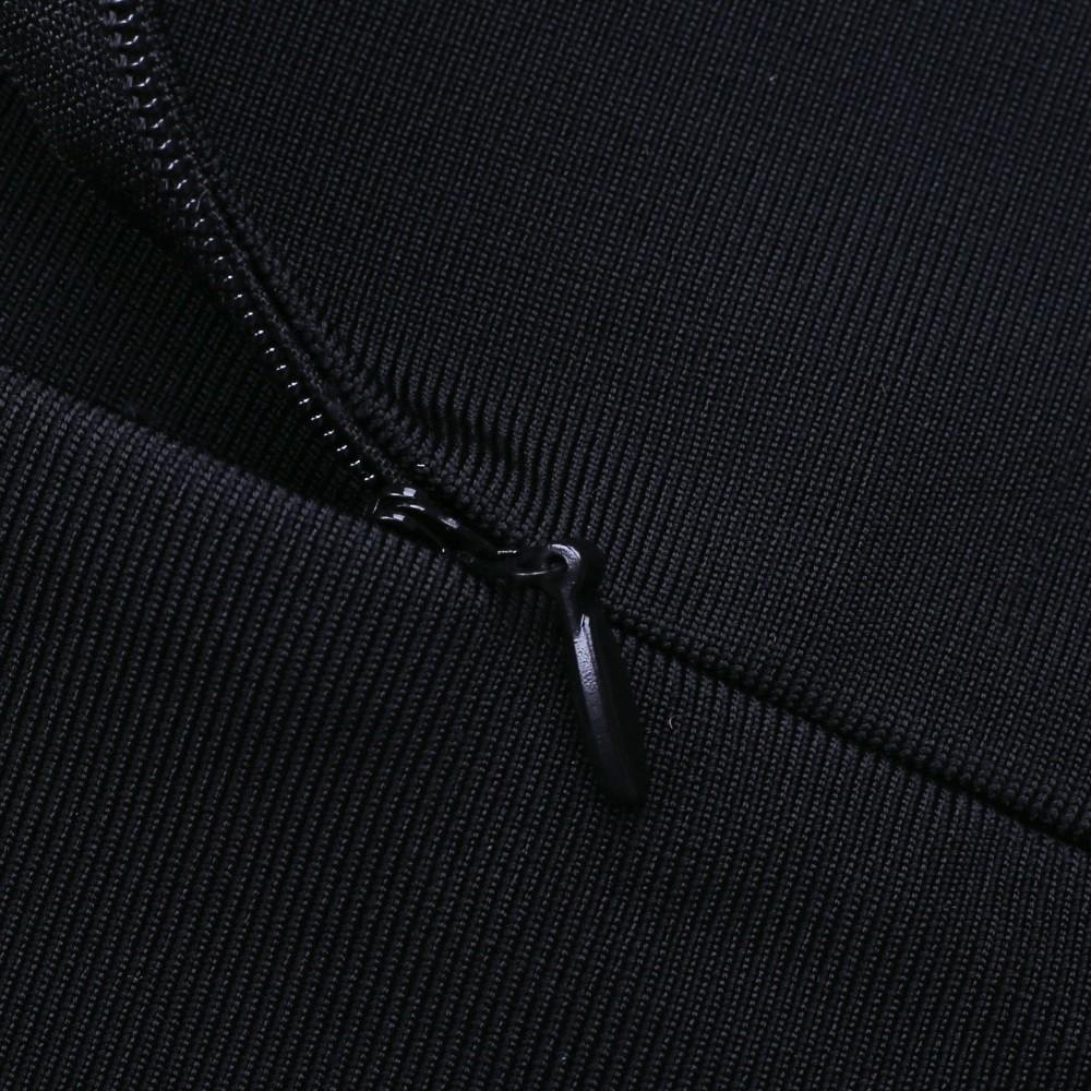 Rayon - Black Strapy Sleeveless Maxi Fashion Bandage Dress HJ484-Black