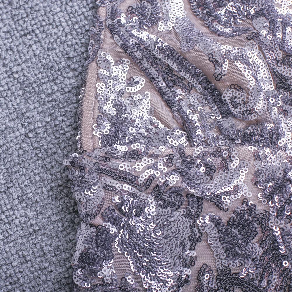 Silver Halter Sleeveless Deep V Sexy Bodycon Jumpsuit HW237-Silver
