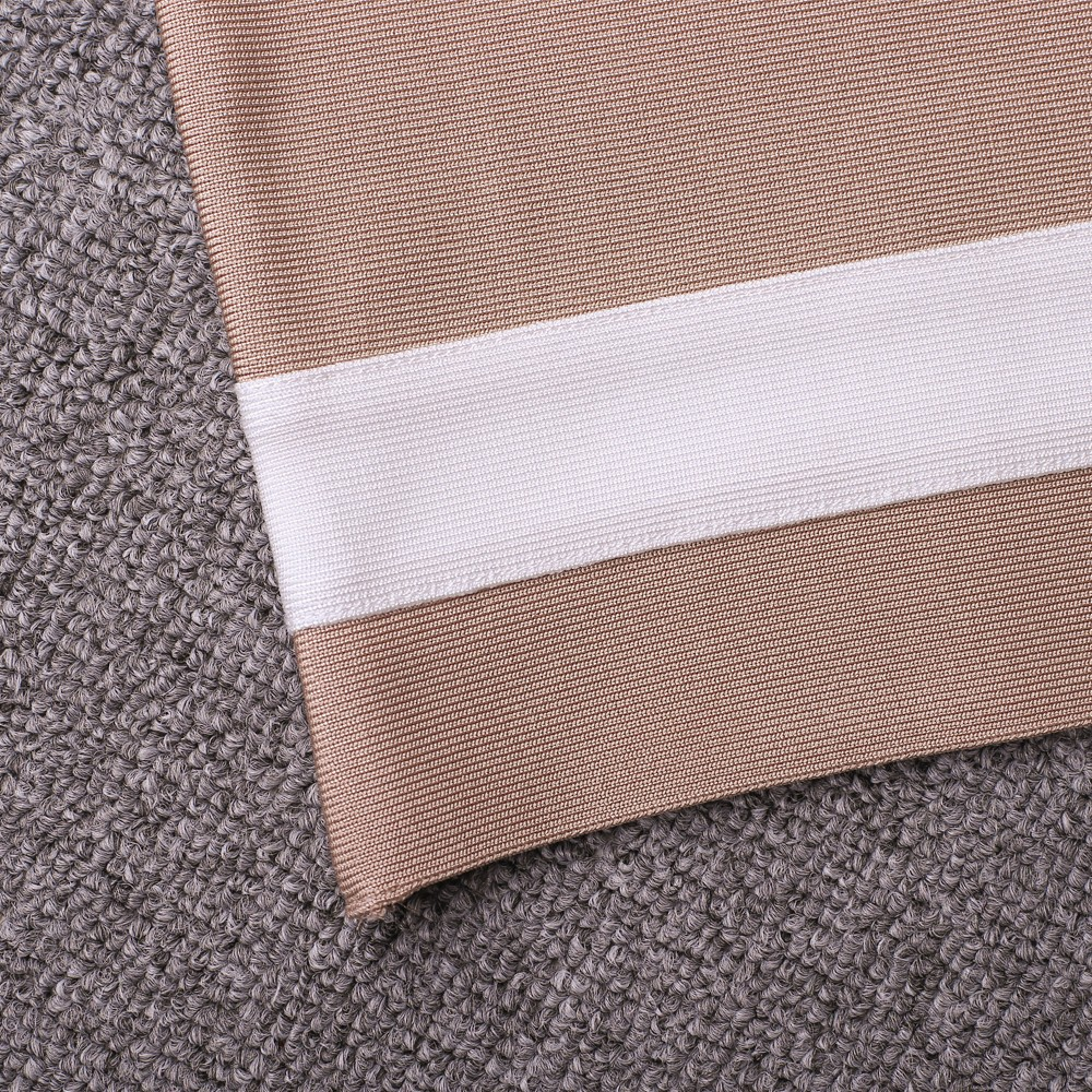Rayon - Nude Round Neck Sleeveless Maxi Fringe Popular Bandage Dress HJ482-Nude