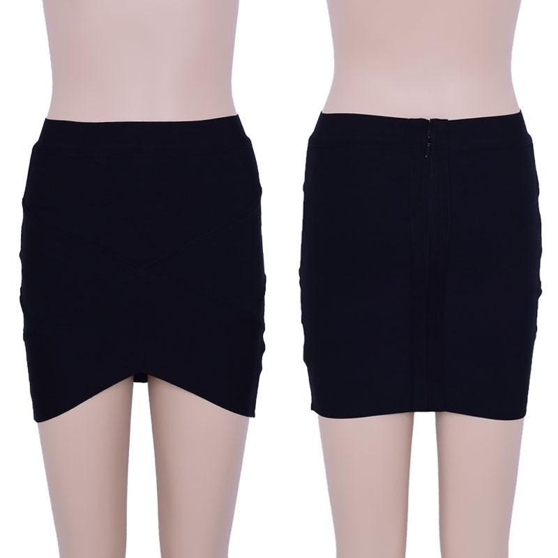 Mini Black Classic Bandage Skirt HP108-Black