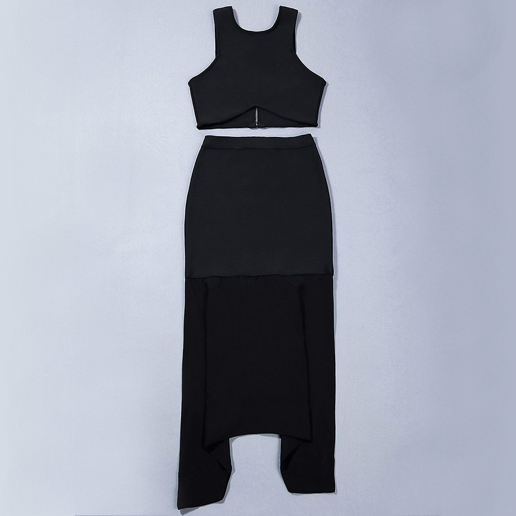 Round Neck Sleeveless Maxi Mesh Nice Black High Quality Bandage Dress
