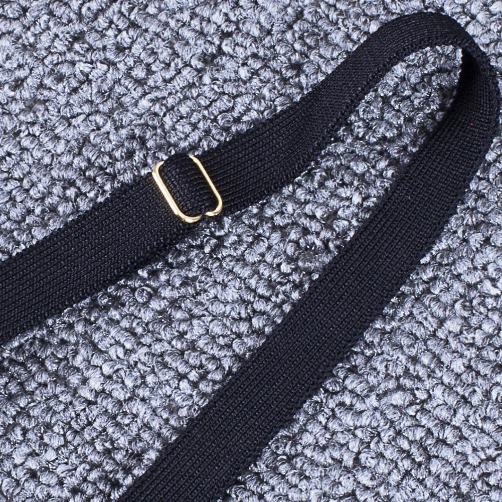 Rayon - Black Halter Sleeveless 2 Piece Beaded Sexy Bandage Dress H0094-Black