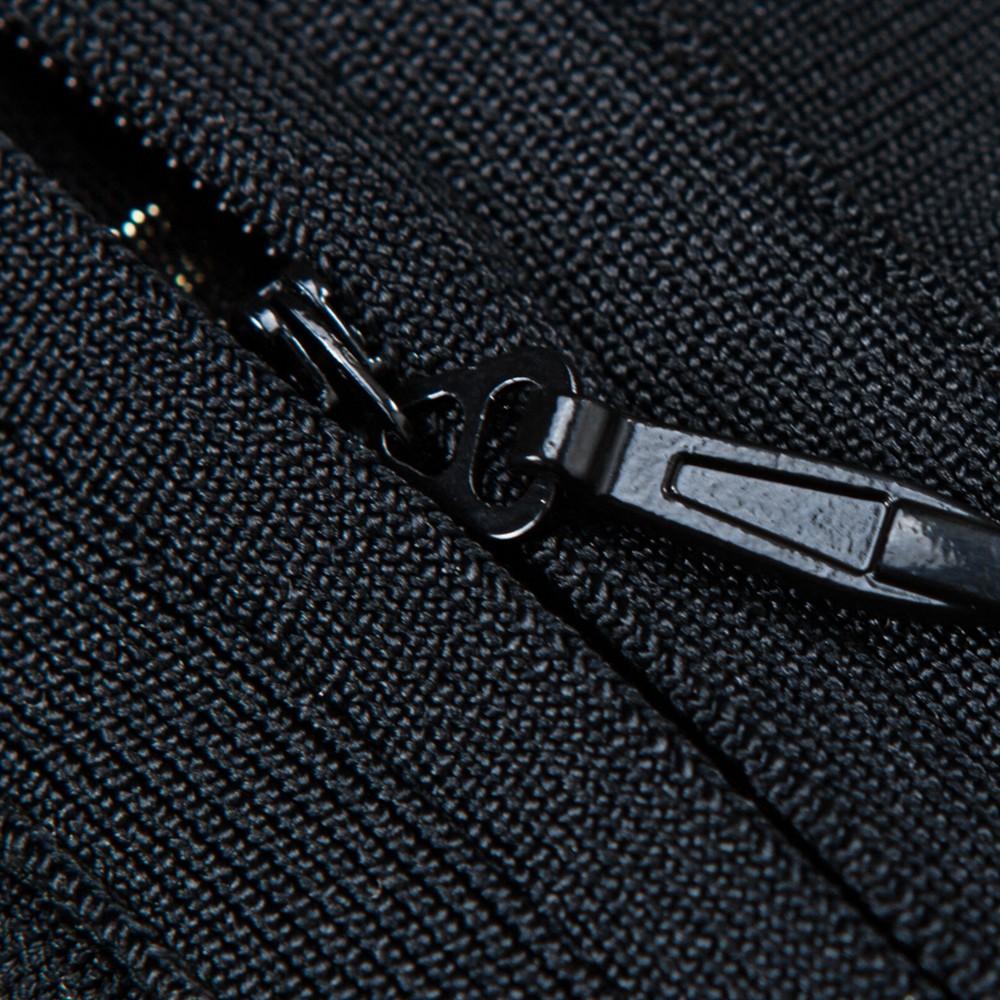 Black High Neck Long Sleeve Mini Grid Meshed Club Bandage Bodysuit HB1010-Black