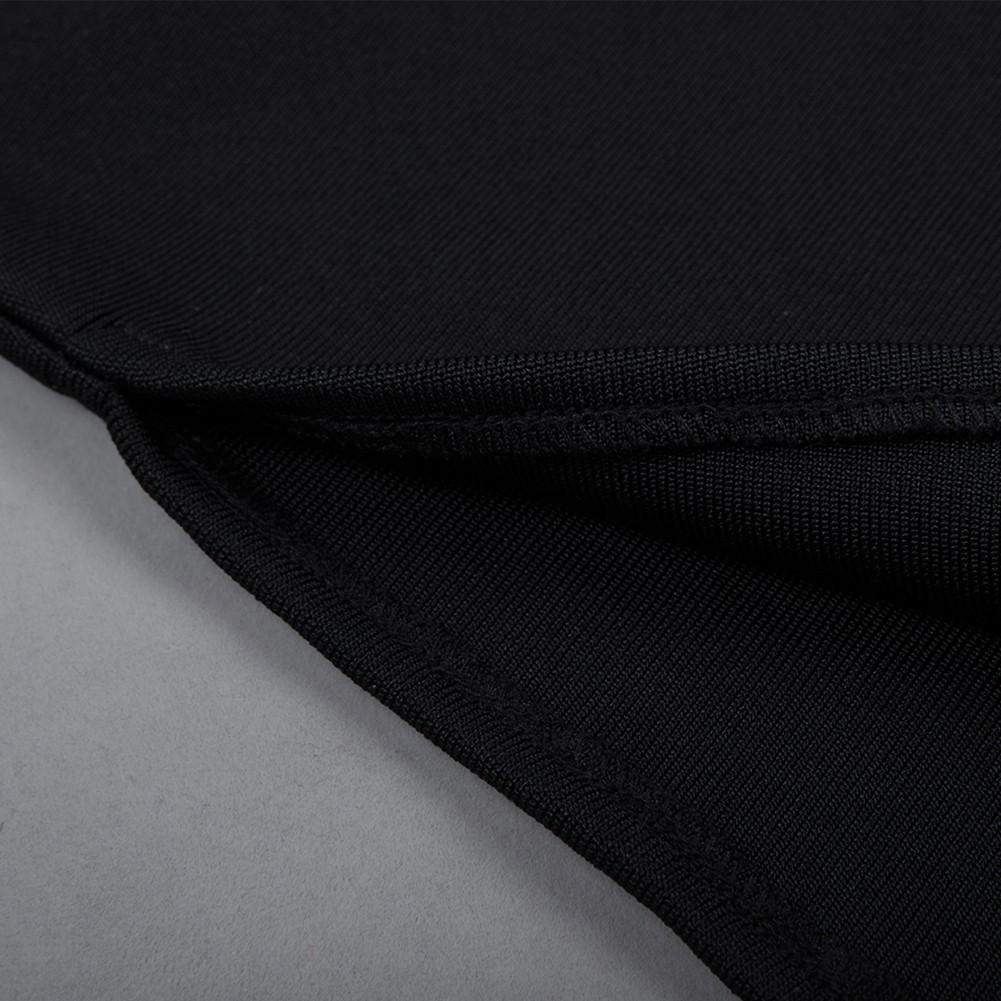 Black Off Shoulder Long Sleeve Maxi Slit High Quality Bandage Jumpsuits HB4397-Black