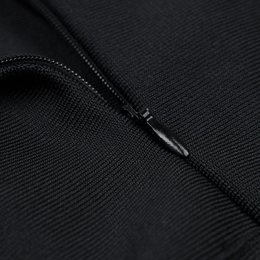 Black Off Shoulder Short Sleeve Maxi Cut Out Side Slit Fashion Bandage Dress HB5233-Black