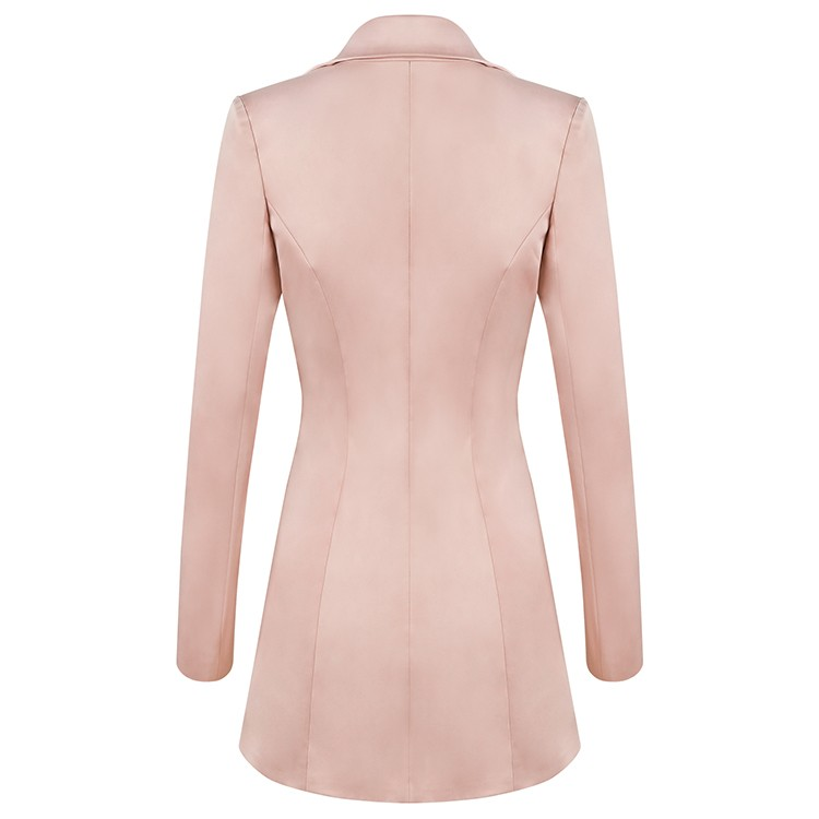 Champagne Round Neck Long Sleeve Mini 3 Pcs High Quality Bodycon Set HB5311-Champagn
