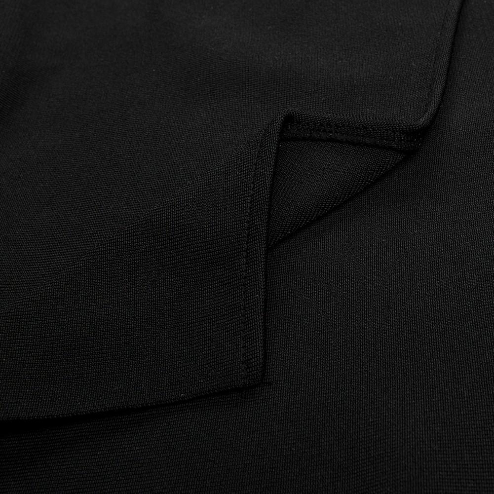 Black One Shoulder Sleeveless Over Knee Party Bandage Dress HB5319-Black