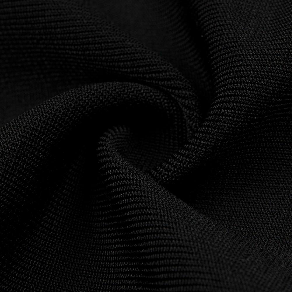 Black One Shoulder Sleeveless Maxi Multiple Zipps Flare Trousers Top Quality Bandage Jumpsuit HB5338-Black
